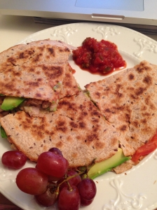 Quesadilla With Brown Rice Tortilla