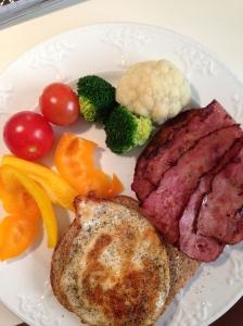 Fried Egg, Turkey Bacon