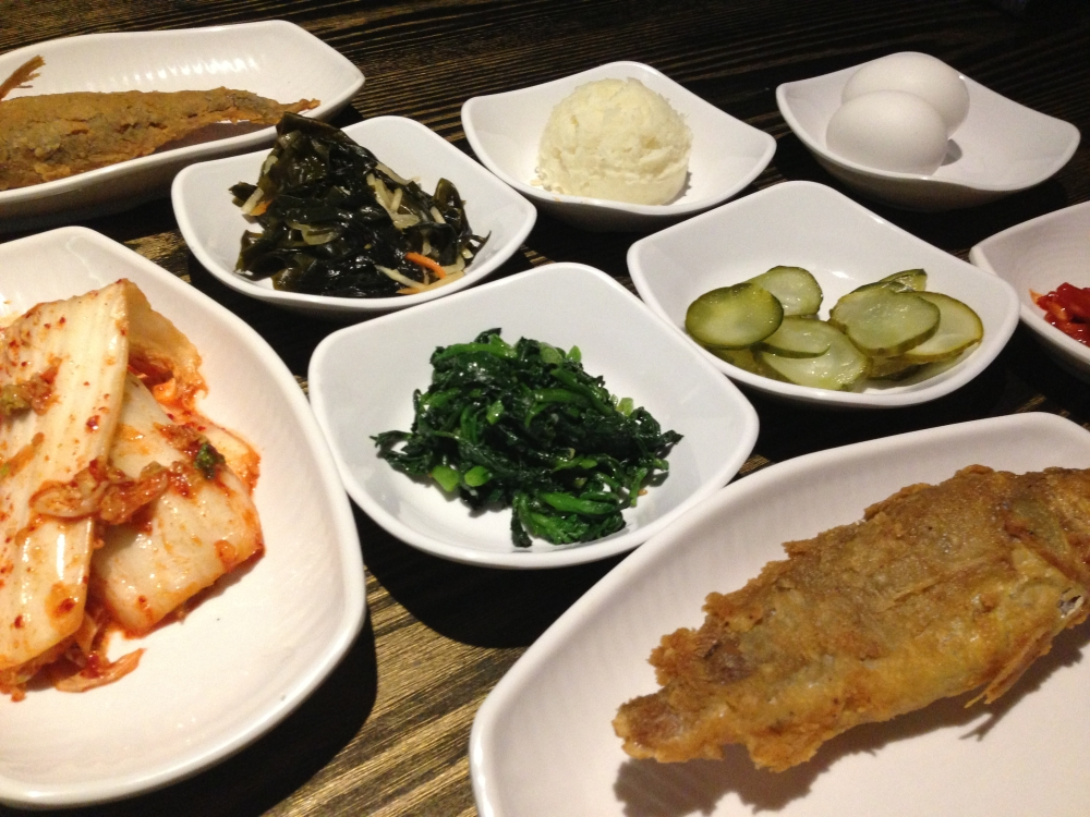Banchan and Fried Fish