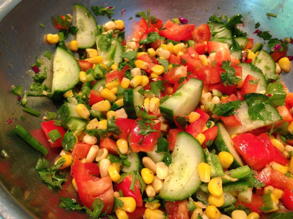 Cucumber Corn Salsa